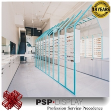 2017 modern custom design glasses store decoration commerial glasses display stand showcase