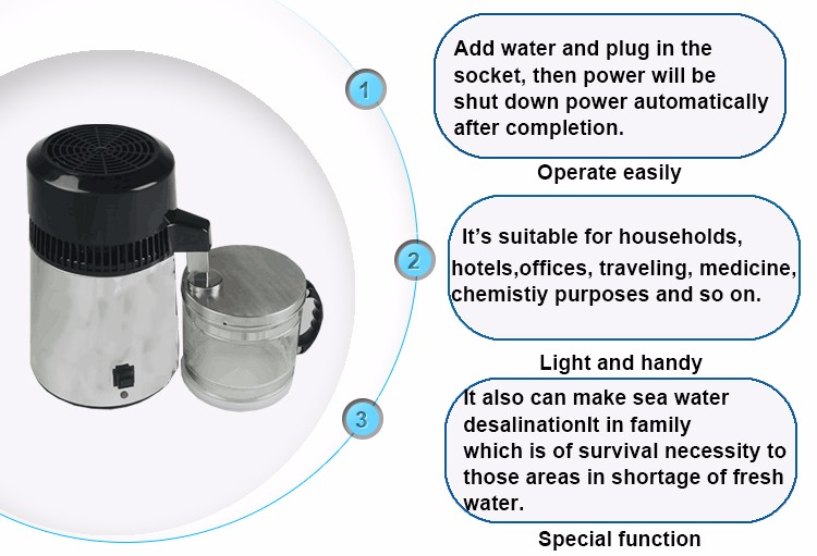 household portable electric water distiller for home use