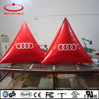 red color triangle advertisement inflatable decoration balloon with logo printing