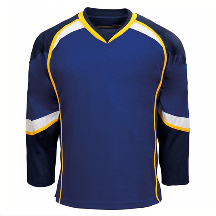 Sublimation authentic european 100% polyester wholesale blank hockey jersey