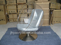 romantic acrylic rotating chair