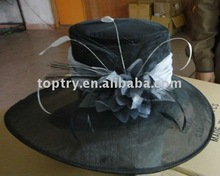 The black church organza hats for lady