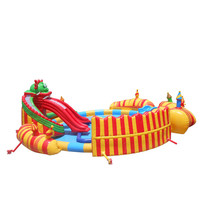 Hot Giant Inflatable Water Slide Exporter / Inflatable Swimming Pool Slide / Inflatable Slides For Adults