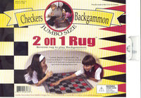 Checker/Backgammon (2 on 1 Rug Game)