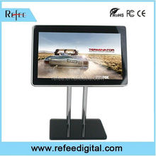 Durable modeling table stand restaurant menu, 1080p open frame Digital Advertising