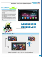 Android 4.4.4 car DVD multimedia player with phone link DVR
