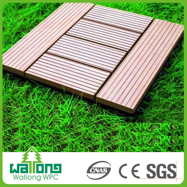 Wpc SGS certificate laminated flooring synthetic teak decking fashion tiles