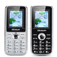 GUSUN F7 Cellular Phone - 1.8 Inch Display, Dual SIM Quad Band Support, Camera, LED Torch (Black/White)