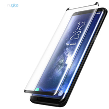 Full Coverage 0.3mm 3D Bubble-Free 9H Hardness Easy Installation HD Clear Tempered Glass Screen Protector for Galaxy S9
