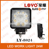 Factory Price Motorcycle LED Driving Lights 24w Commercial Electric Waterproof LED Worklight