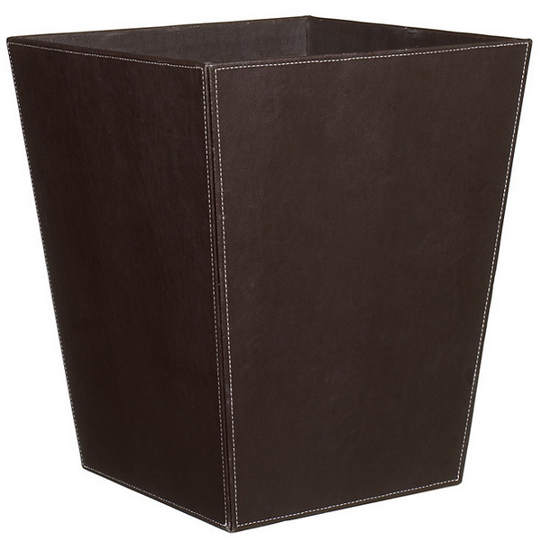Top quality leather hospital waste bin sizes