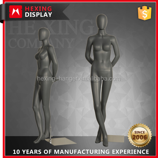 Fashion Matte Grey Full Body Female Mannequins