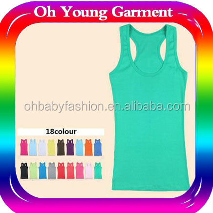 100% Cotton Women Plain stringer Tank Tops Women Vest Sexy Image young girl tube