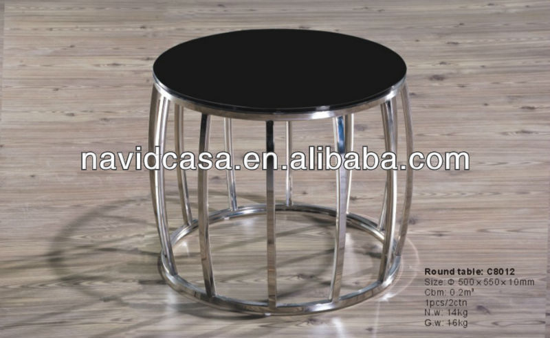 modern cheap round glass rising coffee table