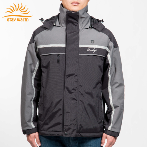 OEM motorcycle heated jacket snowboard heated jacket men outdoor waterproof reflective heated jacket for winter