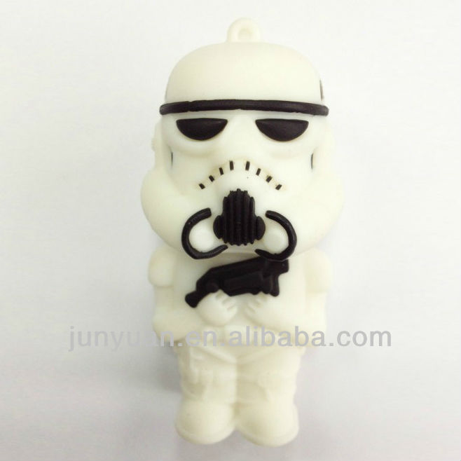 rubber star war usb flash