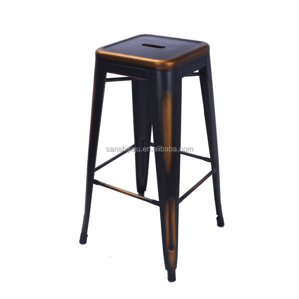 Wholesale metal industrial adjustable stools cheap metal high bar stool