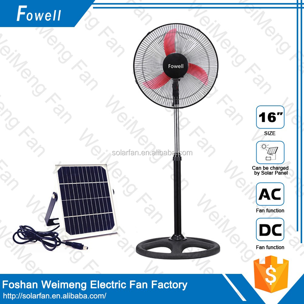 Hot Sell solar Electronic Rechargeable Stand Fan with lithium battery