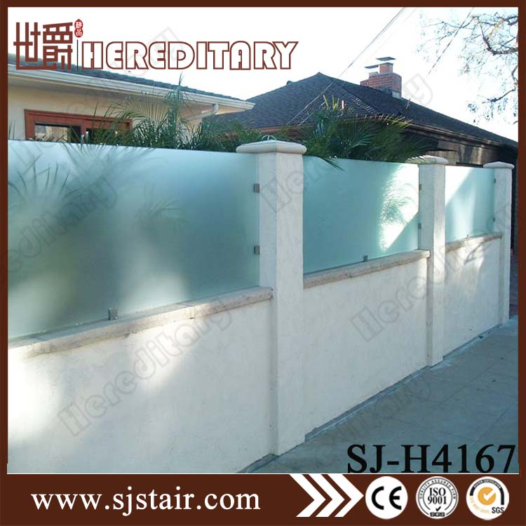 security privacy glass fencing plexiglass railing guard rail price outdoor frosted glass railings for balconies balustrades