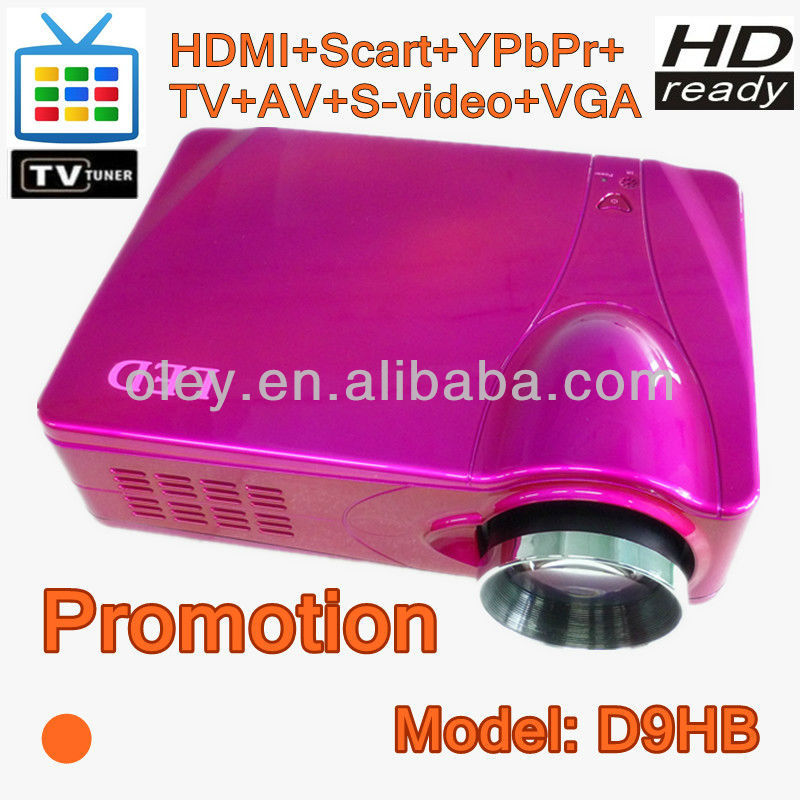 Sales promotion! led projector built in TV tuner, 1080p