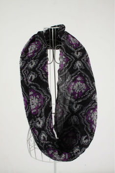 XH-1208 100% Polyester floral printed fashion infinity scarf