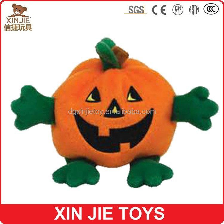 cute hallowmas pumpkin plush toy with smiling face custom made plush pumpkin toy lovely pumpkin soft toy for children