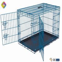Square tube cage fold dog cage