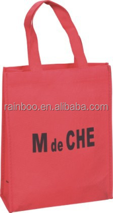 Promotional cheap logo printed customized recycled shopping no woven bag