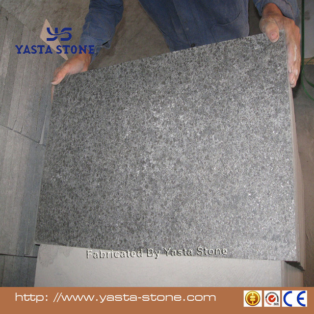 Yasta China black G684 granite flamed surface floor tile