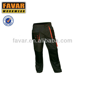 Highly durable premium quality Cordura reinforce men's work trousers