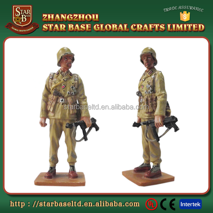 Metal military collection custom war period zinc alloy painted infantry