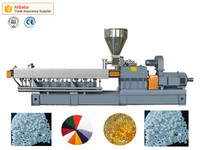 plastic granule making machine/ twin screw extruder