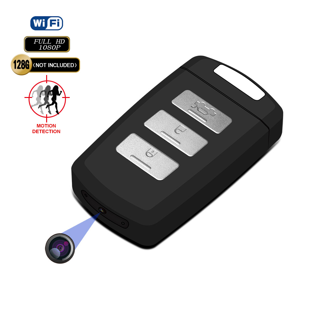 Full HD Wireless <strong>WiFi</strong> P2P Car Key Video record Mini Keychain Camera