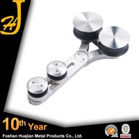 Competitive price frameless glass for sliding door pulleys