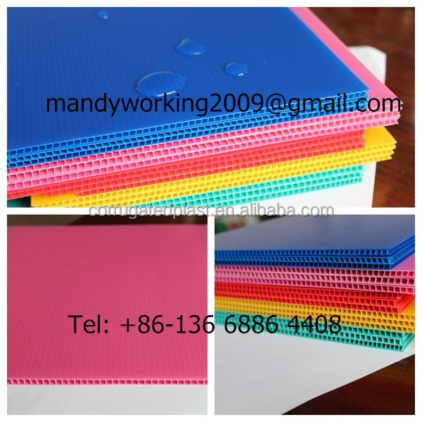 PP Material 2mm 3mm 4mm 5mm 6mm White corrugated plastic Board/corflute sheet/corex board