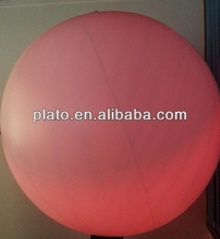 funny colorful giant inflatable led lighting beach ball/balloon