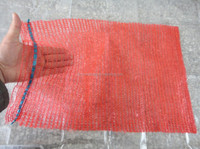 Red 40x70 HDPE net bags for onions