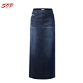 Plus size maxi skirts denim embroidery designs skirt woman
