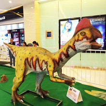 Theme Park Life Size Robotic Realistic Metal Dinosaur Statue For Kids