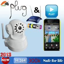 Plug & Play H.264 300k Pan Tilt Wifi Wireless Viewerframe Mode ip camera