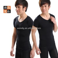Man Shirts Sport Top Slim Belly