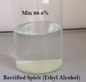 Rectified Spirit (Ethyl Alcohol 99.6% or 99.8% Min.)-Pharma Grade