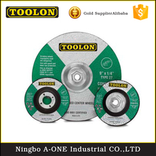Natural material flat-shaped cutting stainless steel abrasive grinding wheel