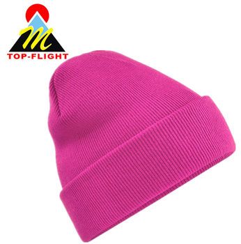 Winter knitted beanie cap 3D embroidery knitted cap wholesale