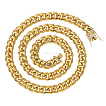 14mm Miami gold filled cuban link chain bulk 18k gold plated jewelry