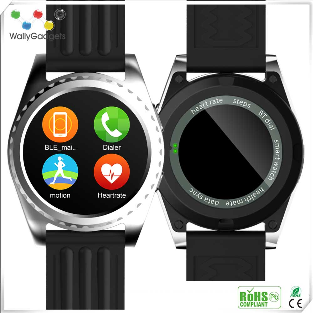 Fashionable Design GPS 3G Wholesale Bluetooth Ce Rohs Android Smart Watch For Healthy