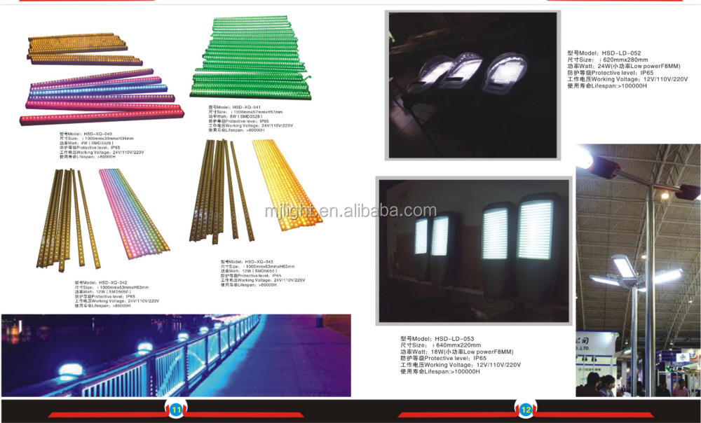 High effciency 24w warm white led wall washer light