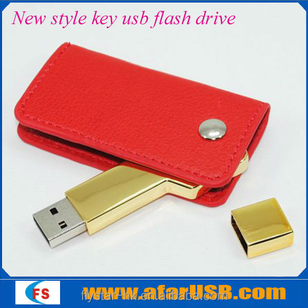 Shenzhen factory direct wholesale leather USB pen drive,OEM leather usb key ,2Gb promotional leather USB flash drives