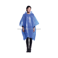 TA59338 HDPE Adult Rain Coat Portable Drawstring Raincoat Rain Poncho with Hoods and Sleeves