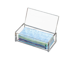 High Quality Rectangle Acrylic Storage Tissue Box With Lid